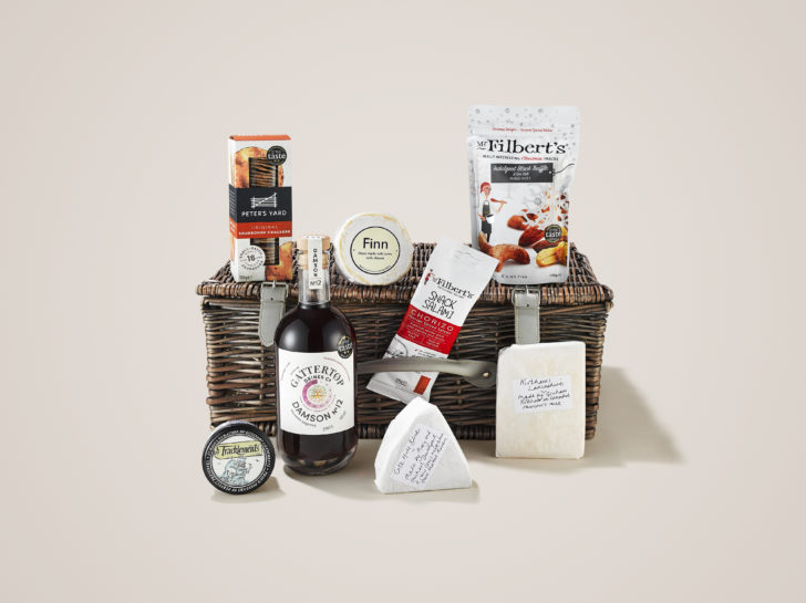 Gattertop Drinks Christmas Hamper with Damson Vodka, Nuts and Cheese